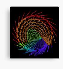 Rainbow Line Fractal 32517 Canvas Print
