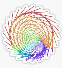 Rainbow Line Fractal 32517 Sticker