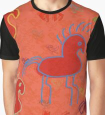HORSES GALLOP BY ART AND SOUL MAMMA Graphic T-Shirt
