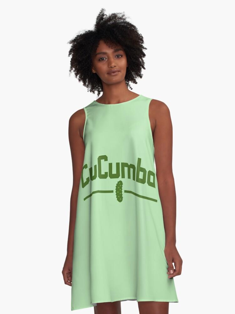 Vestidos acampanados «CuCumba» de imotvoksim | Redbubble