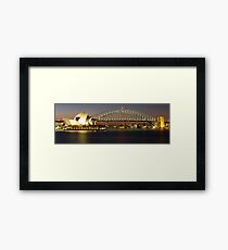 Sydney's Famous - Harbour Bridge & Opera House Framed Print