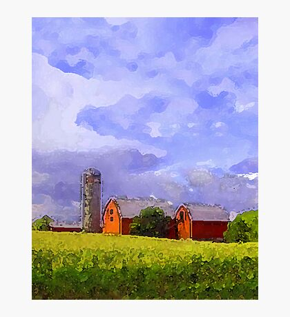 Red Barns Photographic Print