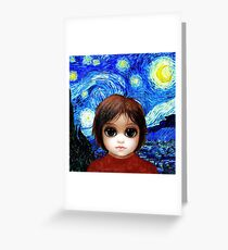 Big Eyes With Starry Night Greeting Card