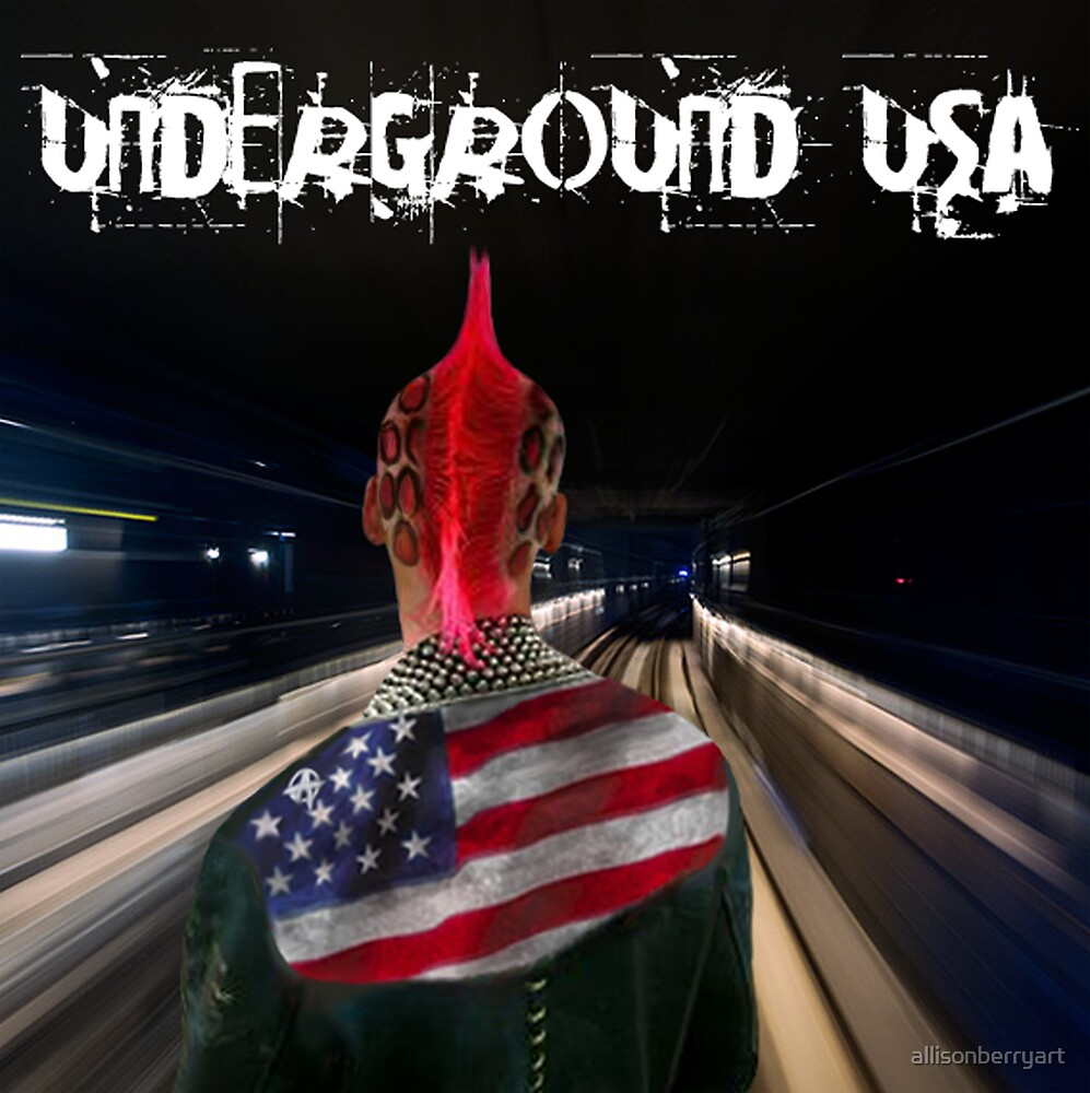 Underground USA by allisonberryart