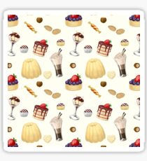 Sweet pattern with various desserts. Sticker