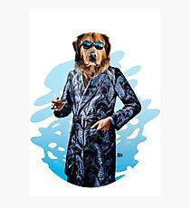 Smoking Dog Pepe Psyche Photographic Print