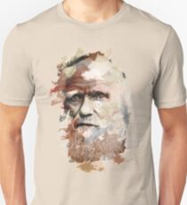 Paint-Stroked Portrait of Scientist and Evolutionary Biologist, Charles Darwin T-Shirt