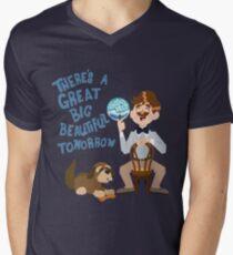 Camiseta de cuello en V El hombre tiene un sueño