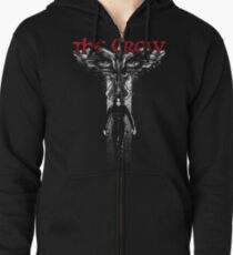 Crow Cross Zipped Hoodie