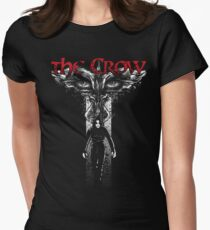 Crow Cross Fitted T-Shirt