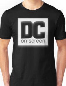 DC on SCREEN Logo (White) Unisex T-Shirt