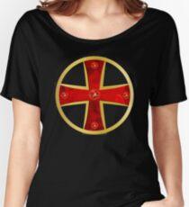 Kreuz der Ritter Kreuzritter Ritterkreuz Gold Rubinen Women's Relaxed Fit T-Shirt