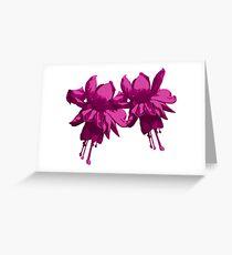 purple fuchsia Greeting Card