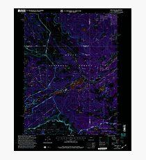 USGS TOPO Map Colorado CO Orno Peak 234003 2000 24000 Inverted Photographic Print