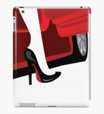 Luxury fashion woman with an automobile silhouette iPad Case/Skin