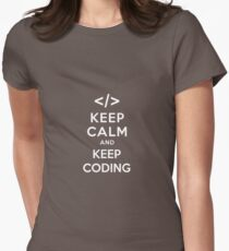Keep calm and keep coding Womens Fitted T-Shirt