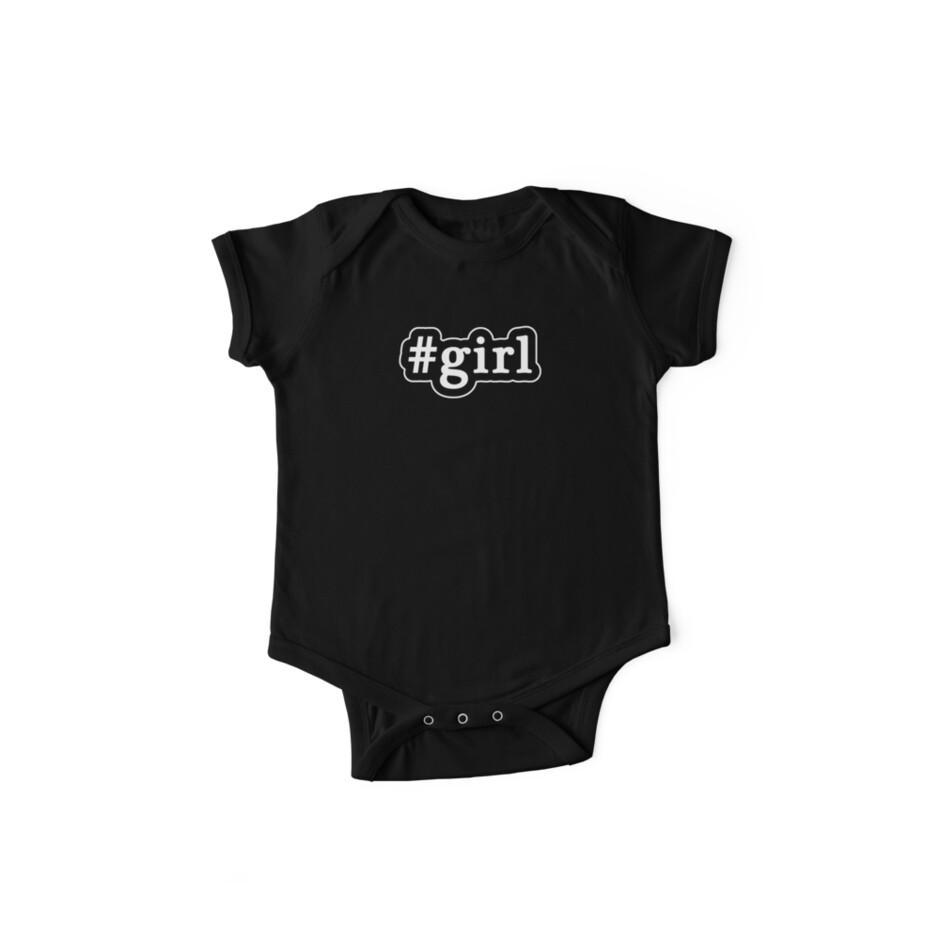 Girl - Hashtag - Black & White by graphix
