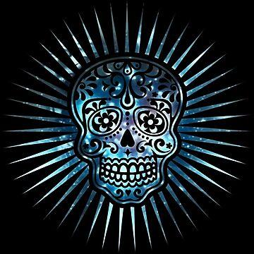 Cosmic Sugar Skull, Space, Galaxy Style by nitty-gritty