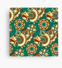 Green Psychedelic Canvas Print