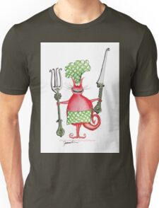 Red Hot Cat Chef by tony fernandes Unisex T-Shirt