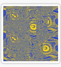 Spider Glitch Yellow Sticker