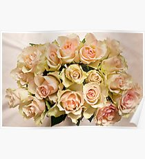 Flowers roses beautiful bouquet Poster