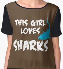 This girl loves Sharks Chiffon Top