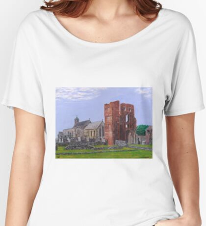 Lindisfarne Priory and St. Mary's Church Women's Relaxed Fit T-Shirt