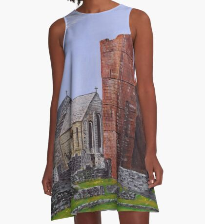 Lindisfarne Priory and St. Mary's Church A-Line Dress
