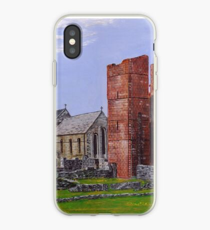 Lindisfarne Priory and St. Mary's Church iPhone Case