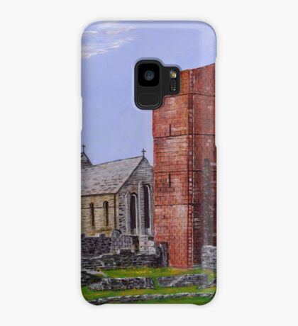 Lindisfarne Priory and St. Mary's Church Case/Skin for Samsung Galaxy