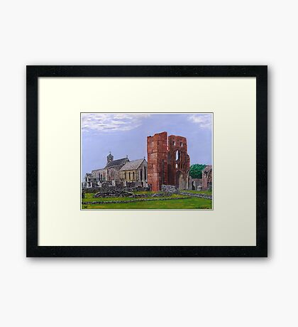 Lindisfarne Priory and St. Mary's Church Framed Print