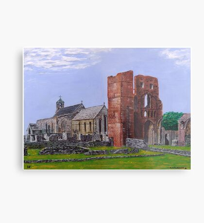 Lindisfarne Priory and St. Mary's Church Metal Print