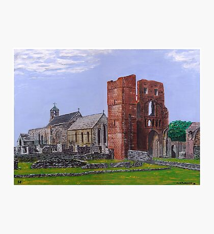 Lindisfarne Priory and St. Mary's Church Photographic Print