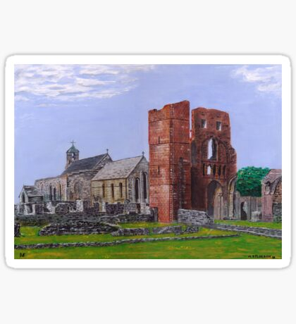 Lindisfarne Priory and St. Mary's Church Sticker