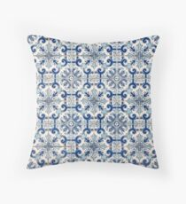 Portuguese vintage tiles Throw Pillow