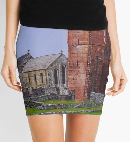 Lindisfarne Priory and St. Mary's Church Mini Skirt