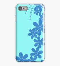Blue floral desgin iPhone Case/Skin