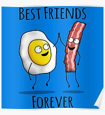 Bacon and Egg BFF Poster