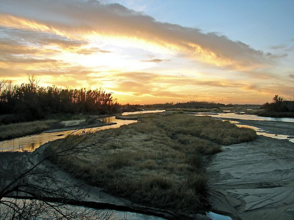 Platte River Sunset  by angelandspot