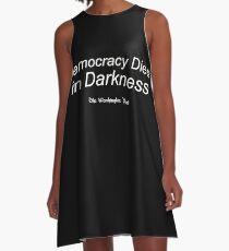 Demokratie stirbt in der Dunkelheit A-Linien Kleid