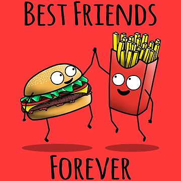Cheeseburger and Fries BFF by jozvozdesign