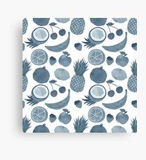 Silver fruits Canvas Print