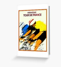 TOUR DE FRANCE: Internationale Cycle Racing Print Greeting Card