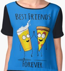 Pizza and Beer BFF Chiffon Top