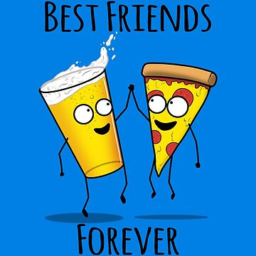 Pizza and Beer BFF by jozvozdesign