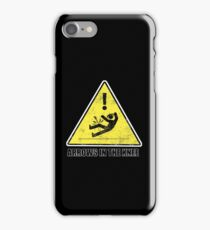CAUTION - Arrows in the knee iPhone Case/Skin