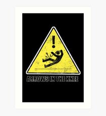 CAUTION - Arrows in the knee Art Print