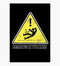 CAUTION - Arrows in the knee Photographic Print