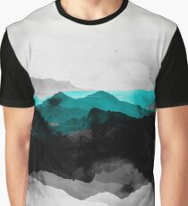 Landscape montains nature abstract Graphic T-Shirt